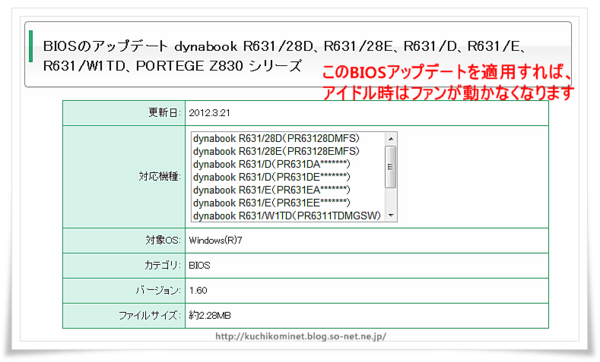 BIOSアップデート dynabook R631.png