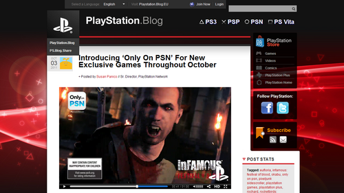 Introducing 'Only On PSN' For New Exclusive Games Throughout October – PlayStation Blog
