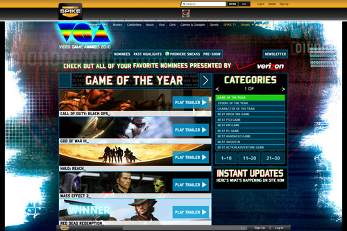 GAME OF THE YEAR | Spike Video Game Awards 2010 - Spike VGA 2010 | SPIKE