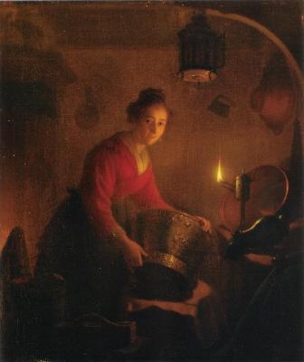 ミヒール・フェルステーフ《台所の女》