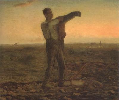 ジャン=フランソワ・ミレー《一日の終わり》(青山ユニマット美術館蔵)