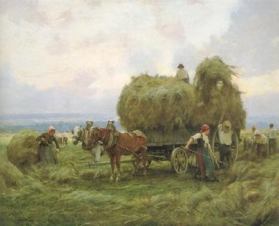 ジュリアン・デュプレ《牧草の取り入れ》(山梨県立美術館蔵)