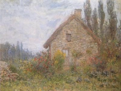 クロード・モネ《藁ぶき屋根の家》(財団法人