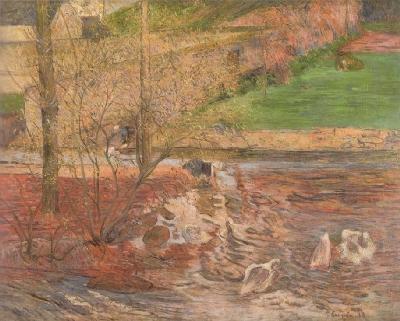 ポール・ゴーガン《家鴨のいる池》(個人蔵)
