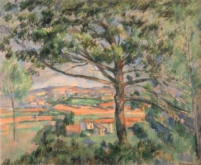 ポール・セザンヌ《大きな松の木と赤い大地》(個人蔵)