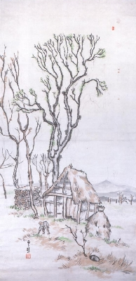 萬鉄五郎《木小屋》(萬鉄五郎記念館蔵)