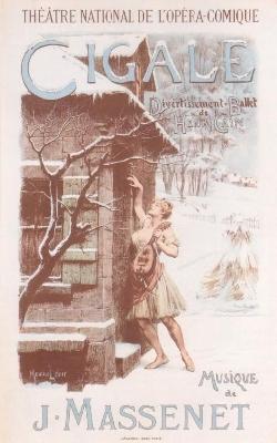 モーリス・ルロワール《バレエ『蝉』》(川崎市市民ミュージアム蔵)