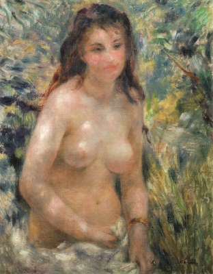 《陽光のなかの裸婦》[1875~76](オルセー美術館蔵)