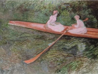 クロード・モネ《ばら色のボート》(ポーラ美術館蔵)