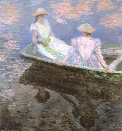 クロード・モネ《舟遊び》(国立西洋美術館蔵)