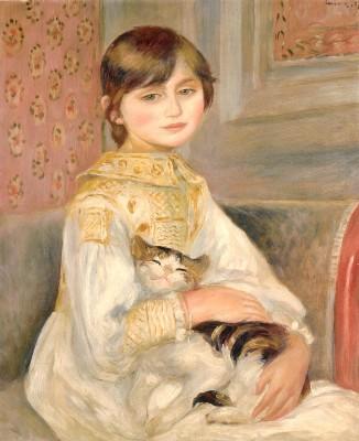 ピエール=オーギュスト・ルノワール《ジュリー・マネ(あるいは猫を抱く子供)》
