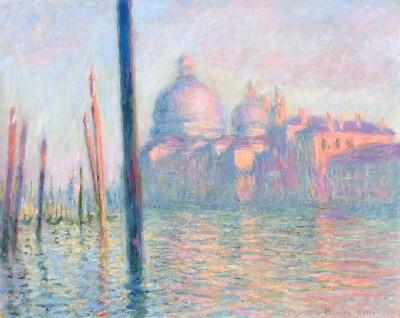 《大運河、ヴェネツィア》(ボストン美術館蔵)