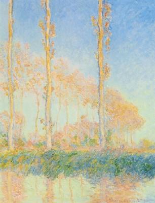 《ポプラ並木、秋》(フィラデルフィア美術館蔵)