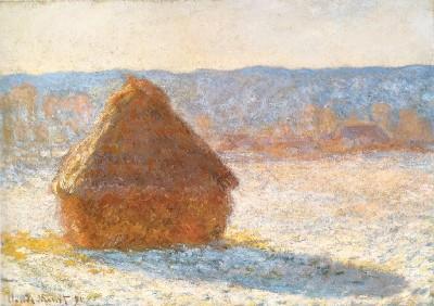《積みわら、雪の朝》(ボストン美術館蔵)