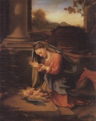 コレッジョ《幼児キリストを礼拝する聖母》