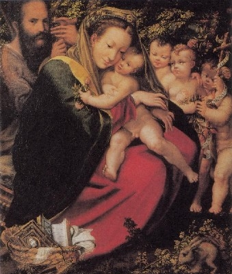 アレッサンドロ・ペドリ・マッツォーラ《聖家族と幼い洗礼者聖ヨハネ、プットたち》