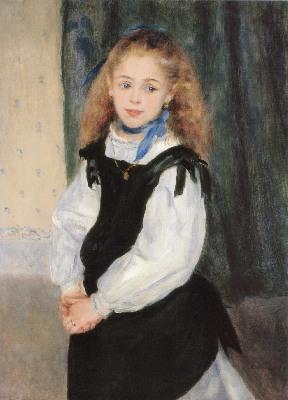 ピエール=オーギュスト・ルノワール《ルグラン嬢の肖像》
