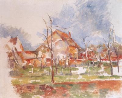 ポール・セザンヌ《ジヴェルニーの冬景色》