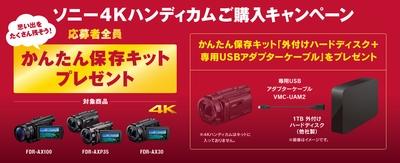 ソニー 4Kハンディカム 御購入キャンペーン