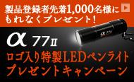 α77Ⅱロゴ入り特製LEDペンライト