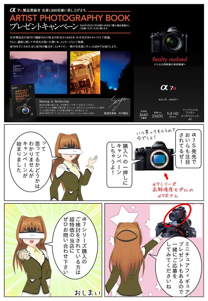 ソニー α7Rの製品登録者 先着1,800名に中井精也氏の写真集をプレゼント
