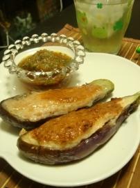 茄子&エビすり身焼き