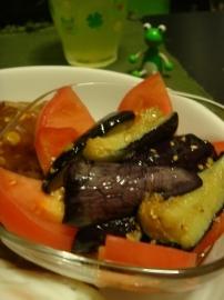 トマトとなすの中華風サラダ