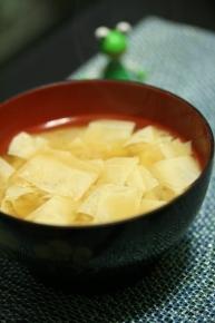 湯葉のお味噌汁