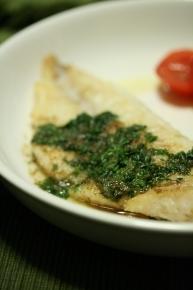 生鱈のソテー・パセリソース