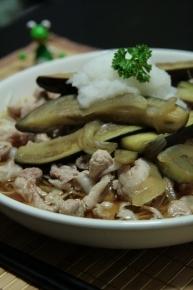 なすと豚バラのせ素麺