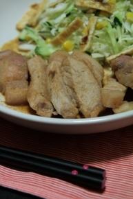 豚ロースのガーリック焼き~(´(00)` )♪