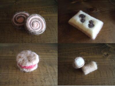 羊毛フェルトクッキー