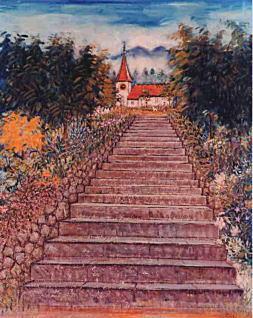 佐伯米子「時計台の見える石段」1971.jpg
