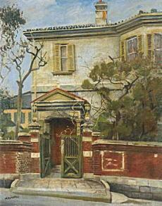 小松益喜「古風な門・古風な家」1936-37.jpg