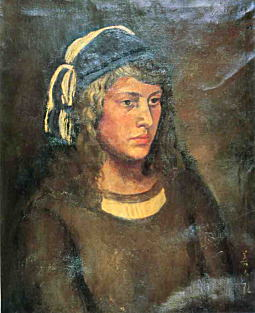 青い帽子(テレサ像)1924.jpg