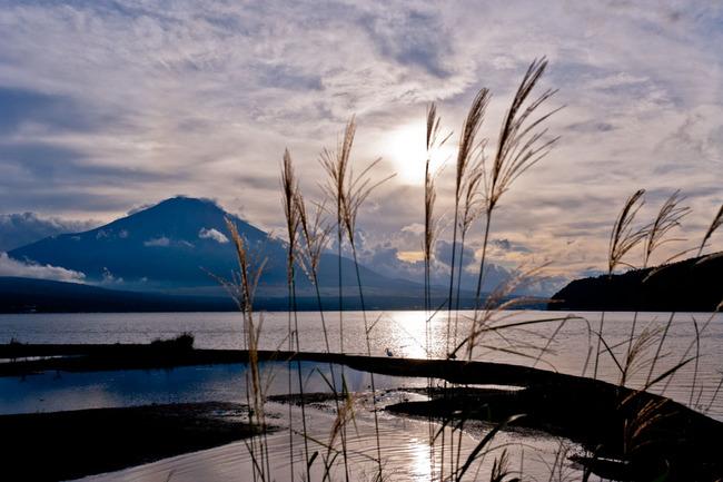 山中湖湖畔の夕 10090703.jpg
