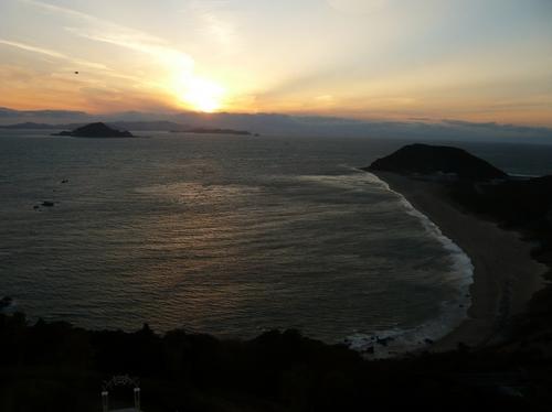 恋路が浜の夕日