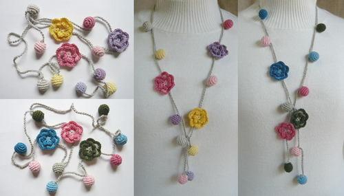 刺繍糸で編んだラリエッタ