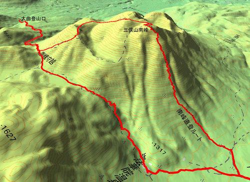 三俣山南峰GPS
