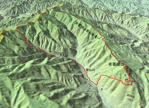 犬ヶ岳・求菩提山GPS
