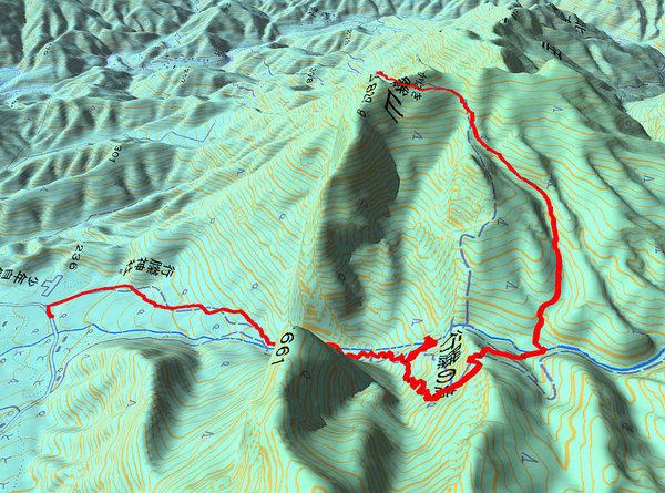 行縢山. GPS