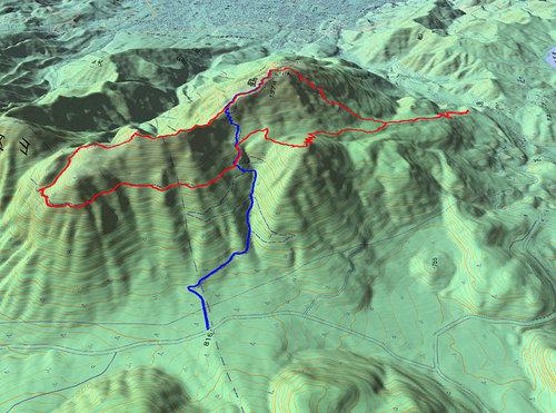鶴見岳GPS