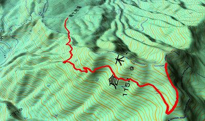 倉木山GPSトラック