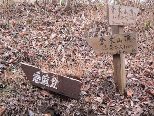 倉木山の分岐