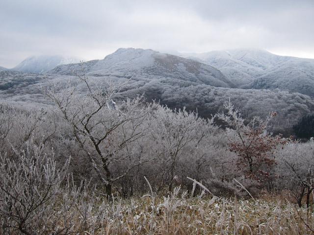 牧ノ戸峠方面の展望