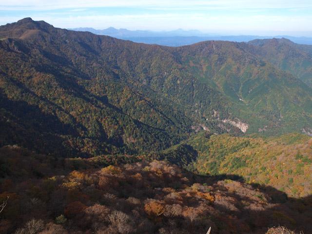 祖母山の稜線