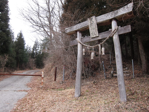 尺間神社の鳥居
