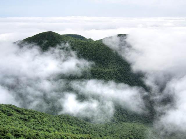 雲海から見える黒岳