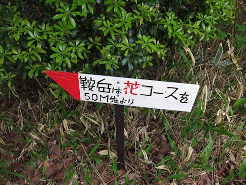 鞍岳 花コース