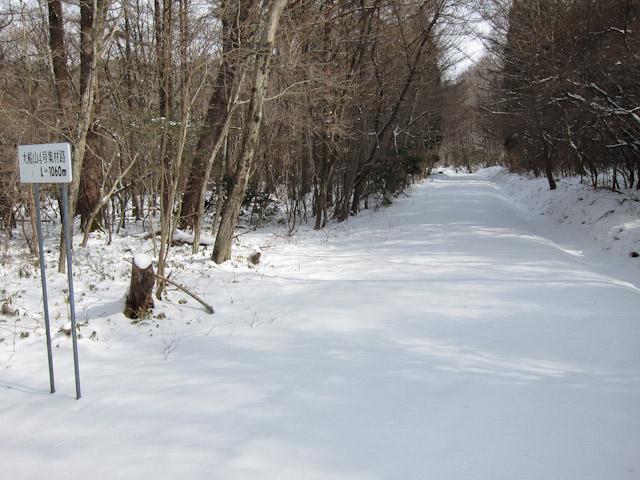 大船林道より、平治北登山口へ